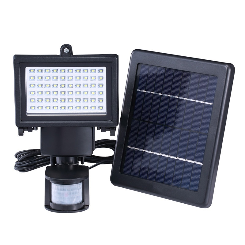 60 LED Solar Energy-saving lamps Solar Power PIR Motion Sensor Led wall Light Outdoor courtyard garden lighting path flood light недорого