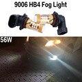 9006 HB4 56 W del Poder Más Elevado Brillante LED de Niebla Del Coche Blanco Running Bombilla de La Lámpara para TOYOTA LAND CRUISER ZELAS Sienna NIEBLA PREVIA LUZ