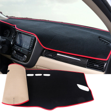Car dashboard Avoid light pad Instrument platform desk cover Mats Carpets For Mitsubishi Outlander 2013 2014