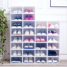 new Dust-proof box Eco-Friendly shoes storage case Transparent Plastic Storage Box Rectangle PP Shoe Organizer Thickened drawer