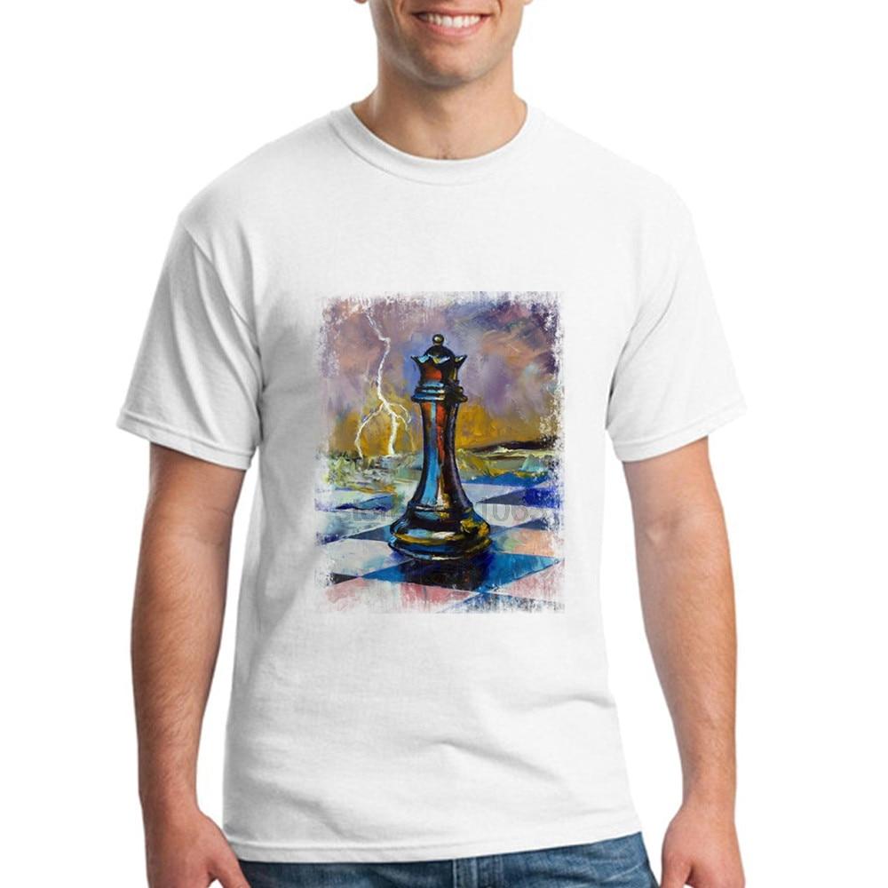 Königin Der Schach Kurzarm T Shirts 100% Baumwolle herren Besten T-shirts Neue...