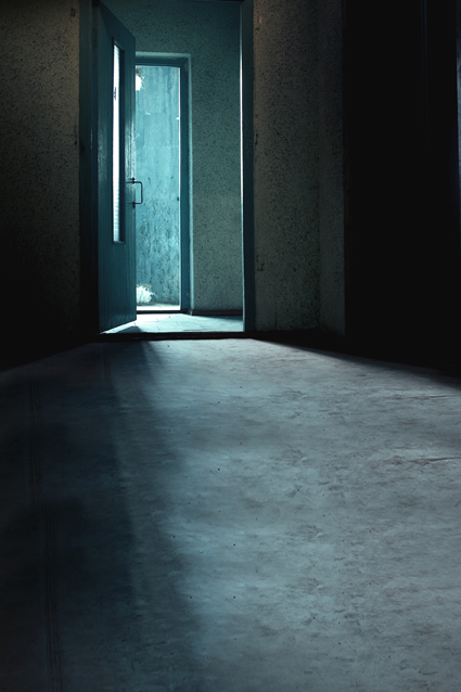 Dark blue theme studio backdrop opened door photography background empty room digital photo cloth f- & Dark blue theme studio backdrop opened door photography background ...
