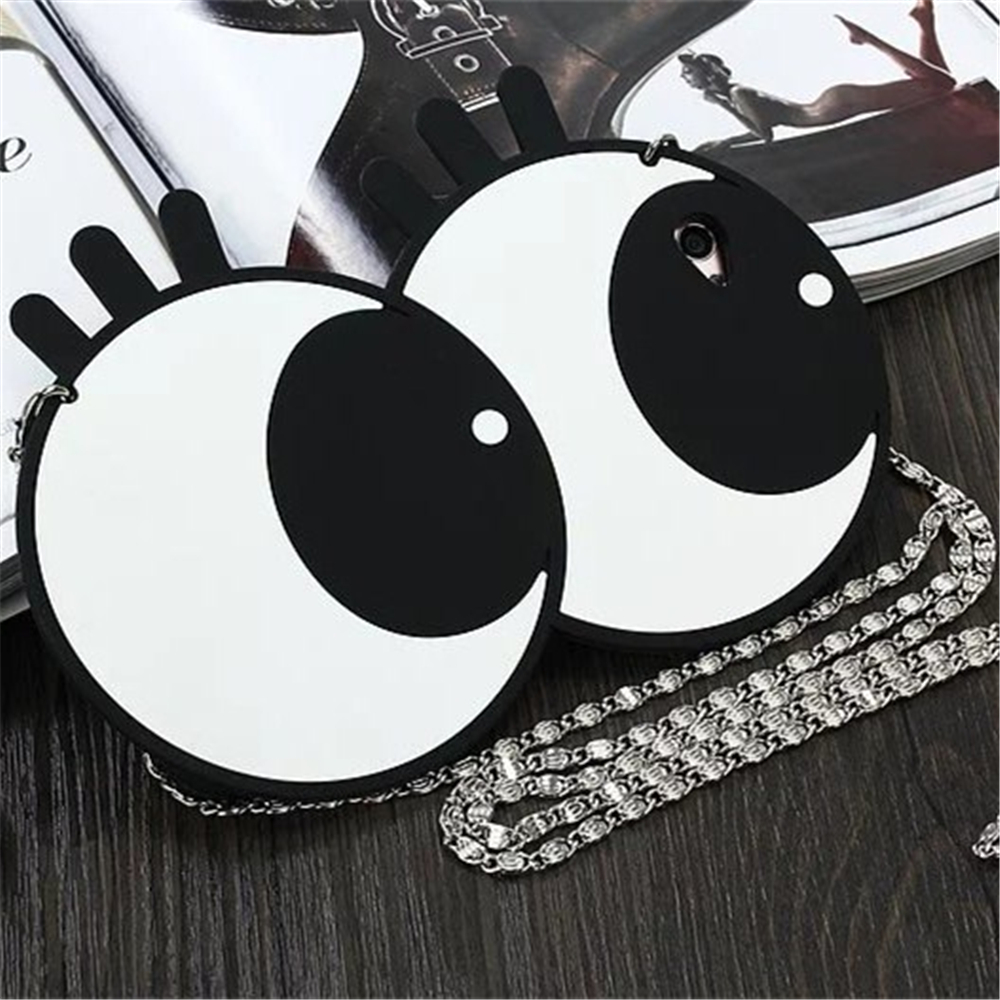 "3D Cartoon Eyes Case For OPPO F1S Case Silicone 5.5"" PC Cute Relief Phone Cover For Fundas OPPO A59 Case Capa"