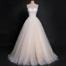 Liyuke Vintage Tulle Princess Ball Gown Wedding Dress