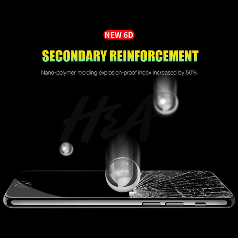 Image 5 - H&A Protective Glass on the For iPhone 7 8 6 6s Plus Tempered Screen Protector Film 0.26mm 6D Curved Edge Glass 7 8 Plus Film-in Phone Screen Protectors from Cellphones & Telecommunications