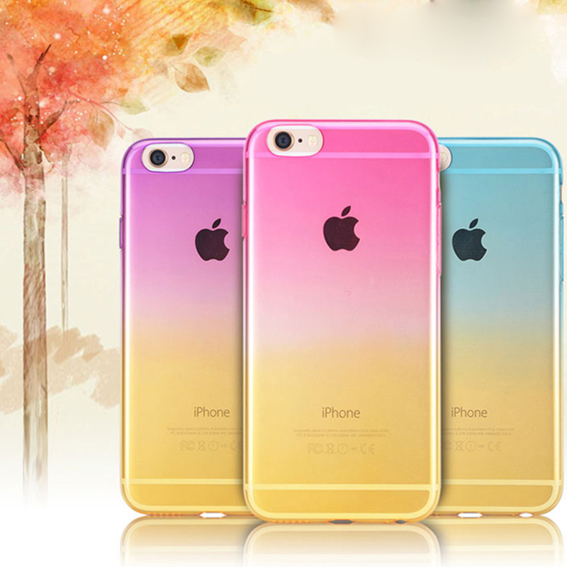 low cost 8a37f 72862 US $2.98 |Gradual Change Ombre Colorful TPU Soft Case For iPhone 5 5S SE  5SE Rainbow Ultra Slim 0.5mm Transparent Back Cover on Aliexpress.com | ...