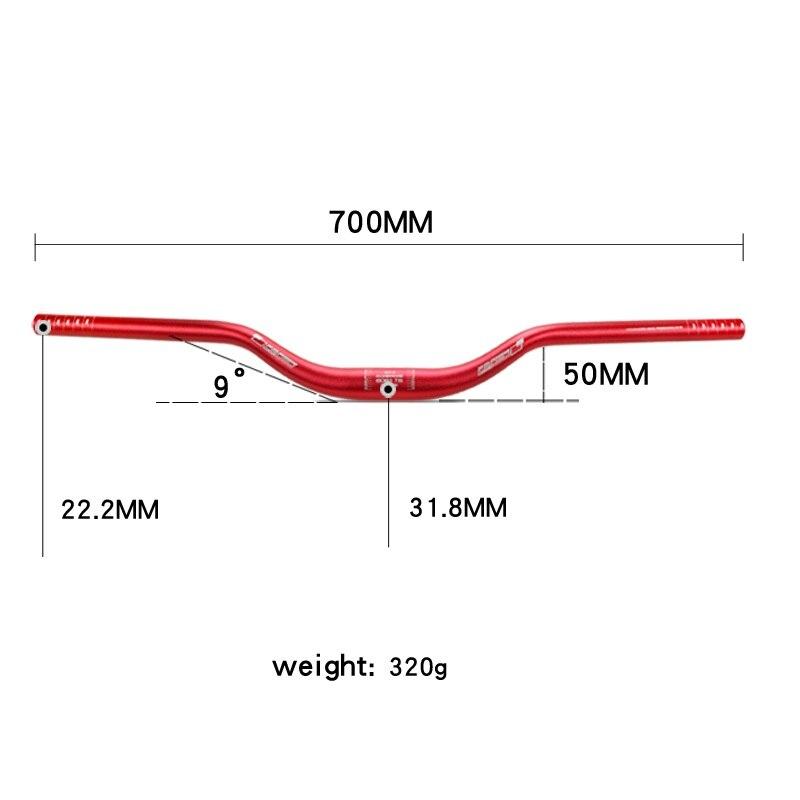 MTB Mountain Bike Bicycle Riser Bar Handlebar Aluminum Handlebars 31.8*700mm