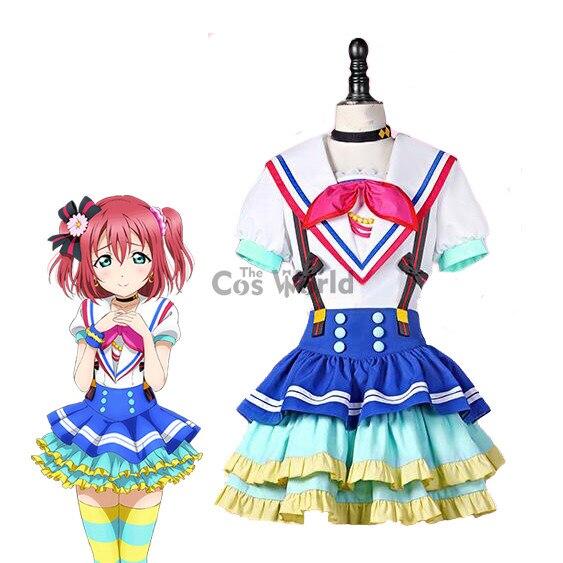 LoveLive!Sunshine!! Aqours Jumping Heart Kurosawa Ruby Sailor Suit Uniform Dress Outfit Anime Cosplay Costumes