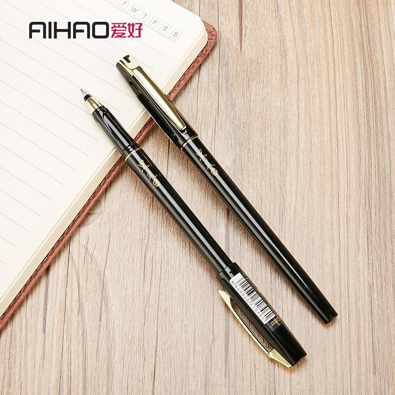 12 pcs aihao gel caneta assinatura caneta 47620 caneta gel 0 5mm caneta material de escritorio