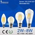 IMINOVO Regulable E27 E14 LLEVÓ el Bulbo Edison Vintage Retro 4 W 6 W 8 W AC 110 V 220 V LLEVÓ la Lámpara de Filamento de La Bombilla de la Vela caliente/Frío