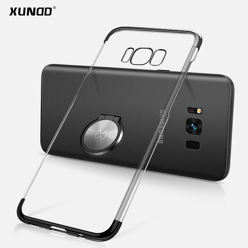 Brand Xundd Case For samsung galaxy s8 s8 plus Transparent Hard PC Case Cover For s8 s8+ work with Magnetic car phone holder