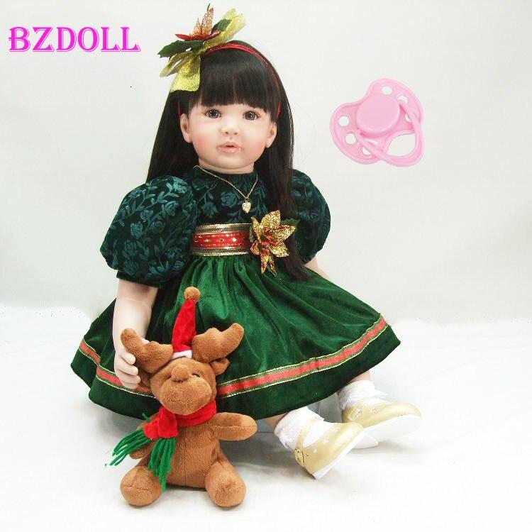 Oyuncaklar ve Hobi Ürünleri'ten Bebekler'de 60 cm Silikon vinil yeniden doğmuş bebek bebek oyuncak prenses yürümeye başlayan kız bebekler bebekler gerçekçi çocuk doğum günü hediyesi çocuk şirin bebek mevcut'da  Grup 1