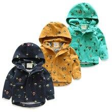 2016 весной и осенью новый детская одежда верхняя одежда пальто дети куртки с капюшоном мальчиков одежда воздушный шар печатных малыш пальто