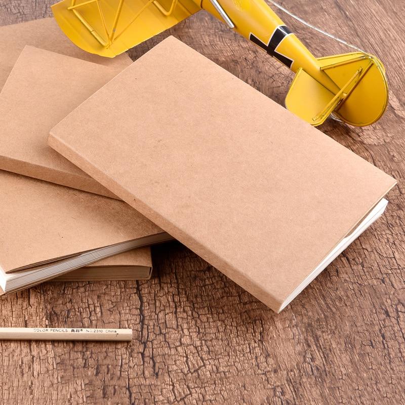 Vintage Kraft Paper Blank Sketchbook Painting Graffiti Sketch Blank Notebook