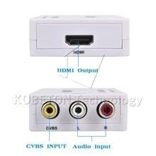 kebidu Full HD Male to  Female RCA AV TO HDMI Converter Adapter Mini Composite CVBS to HDMI AV2HDMI Audio Converter