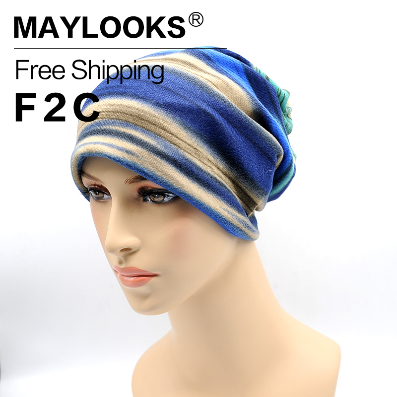 Maylooks New Hats for Women Skullies Beanies for Women Fashion Knitted Hats and Caps Knit Beanie Winter Cap Beanies HN13
