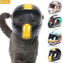 Petshy Щенок Кот шапка, шлемы маленький охлаждающий для домашних животных модные Пластик на открытом воздухе шапки для мотоциклов реквизит для фотосессии для защиты аксессуар для домашних животных