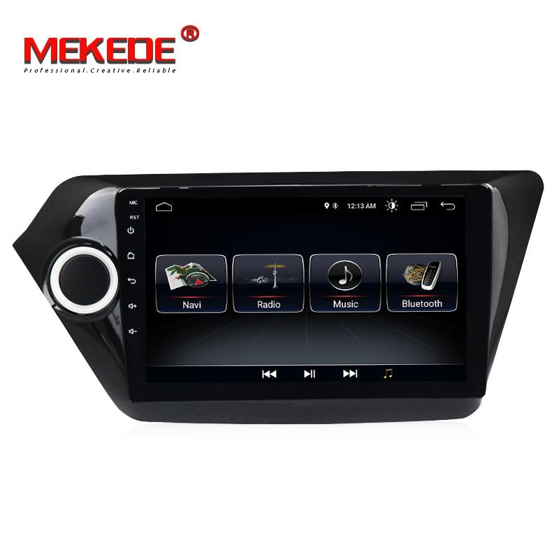 Lowest price quad core processor android 8.0 car gps dvd player for Kia K2 Rio 2012 2015 car radio multimedia wifi bluetooth