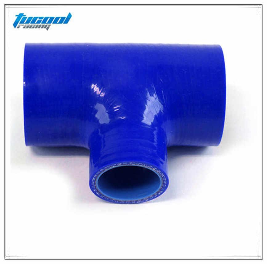 "2 36 &quotдо 36"" т шт 3 способа силиконовый шланг 60 мм Т Форма трубки для 25 ID BOV silicone hose"
