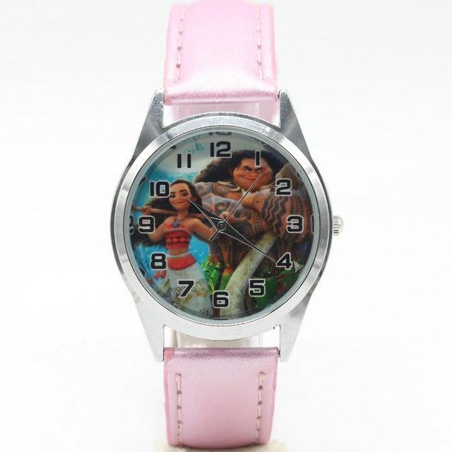 new fashion Moana Watches Children Kids Boys gift Watch Casual Quartz Wristwatch
