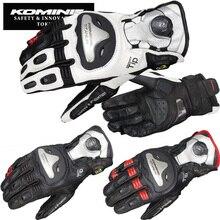 GK166 Komine мотоциклетные перчатки с защитой от падения Натуральная кожа титановый сплав длинные дизайнерские перчатки для езды 3 цвета
