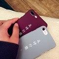Matte hard case для iphone 6 s простой задняя крышка для iphone 7 плюс enojy время для Apple 6 plus Защитной оболочки серый Бордовый пара