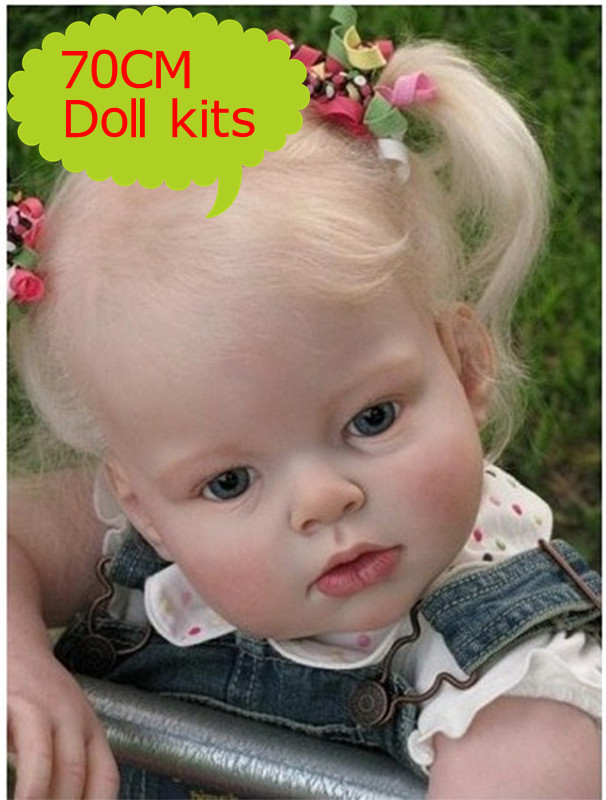 Export Quality 70cm 28inch Reborn Baby Doll Accessories With One Head Two Hands Two legs Educational