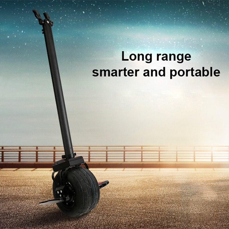 Portable kick scooter 10 pouce grand tout-terrain Une roue monocycle électrique smart balance guidon longue portée électrique scooter