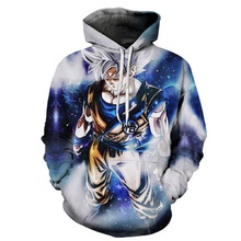 Anime Dragon Ball Z Pocket Hooded Sweatshirts Goku 3D Hoodies Pullovers Men Women Long Sleeve Outerwear 2019 New Hoodie s-6xl