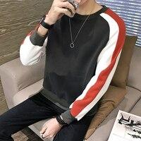 2018 новый бренд Толстовки уличной хип-хоп стиль красный с капюшоном мужские из хлопка с круглым вырезом Кофты модное пальто хорошая одежда 5xl