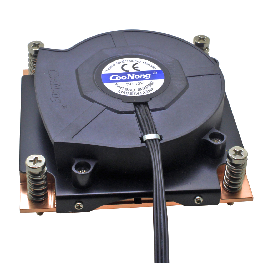 1U Server CPU Cooler 8015 Blower Cooling Fan Copper Heatsink For <font><b>Intel</b></font> Xeon LGA 1155 1156 1150 1151 Industrial Computer image