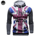 2017 Hoodies Men Sudaderas Hombre Hip Hop Mens Brand Flag Letters Printed Hoodie Sweatshirt Suit Slim Fit Men Hoody 4XL WE