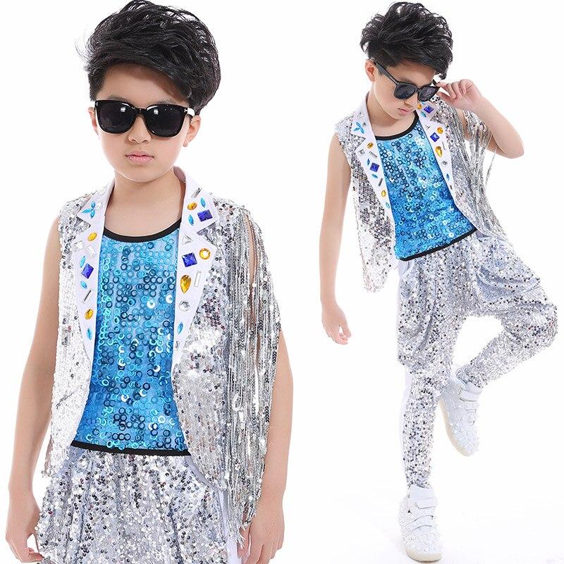 Compre 2018 Nueva Moda Desgaste De La Danza Niños Niños Traje Traje ... 2462d1cdcf3