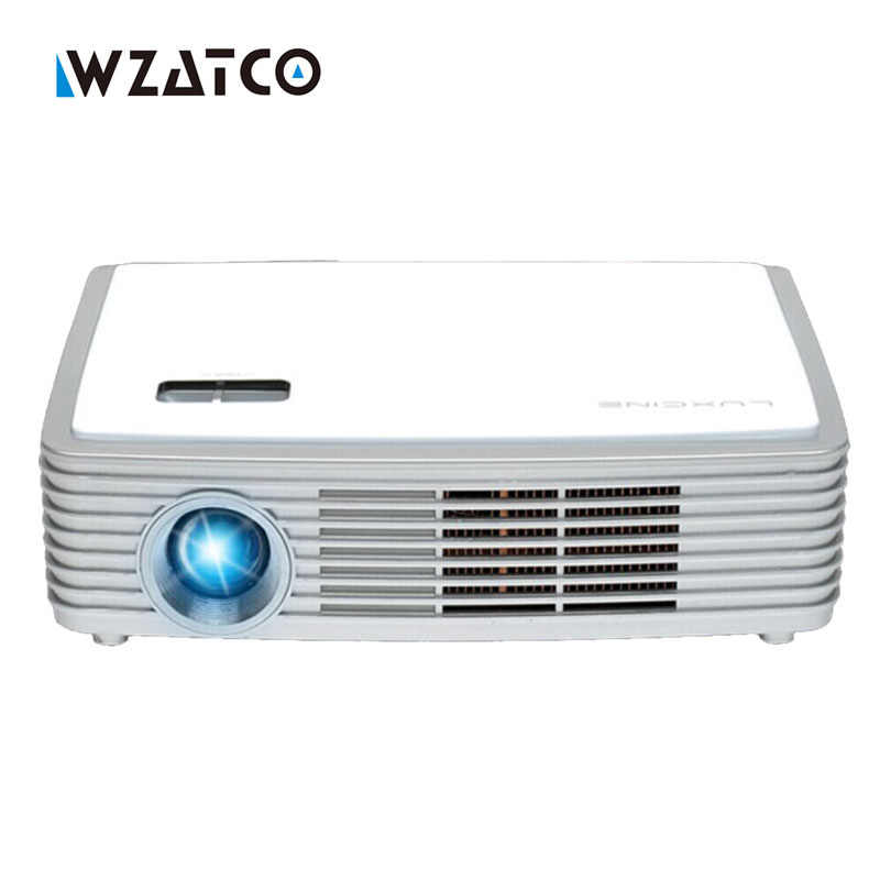 Newest WZATCO Z4000 Full HD 1080p DLP 4K Projector Android Airplay WIFI Home theater Blu-ray 3D Beamer mini portable proyector wzatco led96 tv projector full hd 1080p android 4 4 wifi smart rj45 3d home theater video proyector lcd projector beamer for ktv