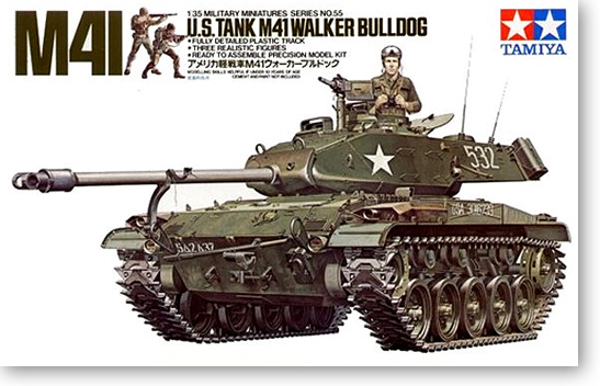 1:35 <font><b>Model</b></font> <font><b>Building</b></font> <font><b>Kits</b></font> Tank M41 WALKER BULLDOG 35055 Tank Assembly DIY image