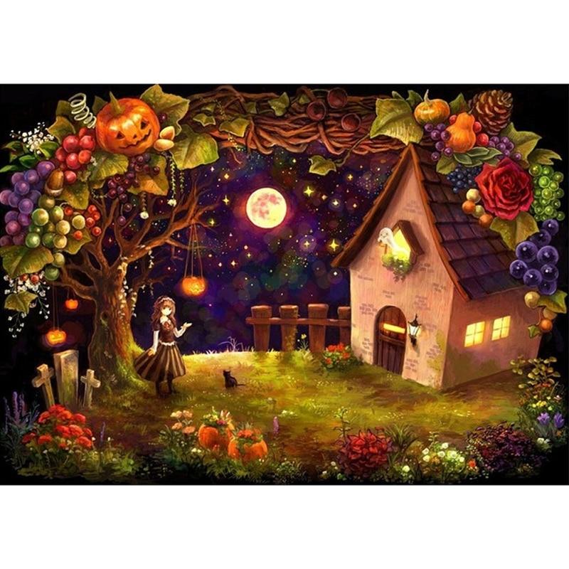 halloween night lovers kissing unicorn 5d diamond painting embroidery craft diy resin diamond kits home halloween decoration