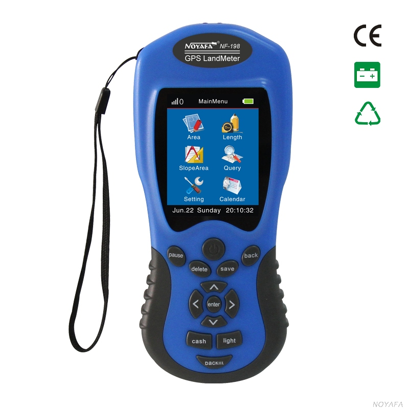 GPS survey equipment use for Farm Land Surveying And Mapping Area Measurement display measuring value figure track Noyafa NF-198 free shipping noyafa nf 198 gps survey equipment land meter device use for farm land surveying and mapping area measurement