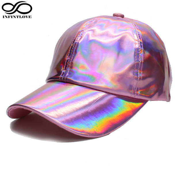 9c6c8bcdd US $8.18 30% OFF|LUCKYLIANJI Unisex Rocker Dazzing Rainbow Chameleon Color  Pu Leather Baseball Cap Snapback Sun Hat for Raper&Dancer Adjustable-in ...