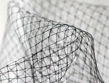 5 yards black Diamond lattice mesh, black mesh fabric, stiff checks mesh for birdcage veil
