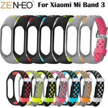 4 chigu double color accessories pulseira miband 2 strap replacement silicone wriststrap for m44258 181018 jia Silicone Strap Double color Sport Strap for xiaomi mi band 3 wristband strap Band accessories Replacement strap for Miband 3
