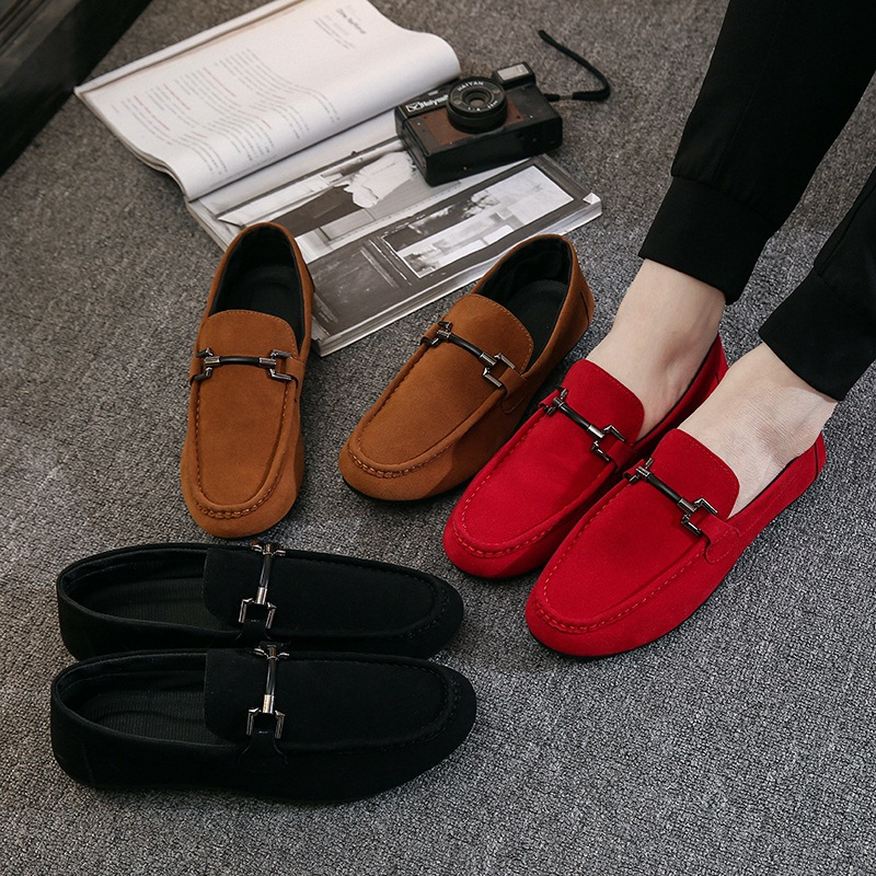 NEW Men's Loafers Comfortable Flat Casual Shoes Men Breathable Slip-On Soft Leather Driving Shoes Moccasins Zapatos De Hombre