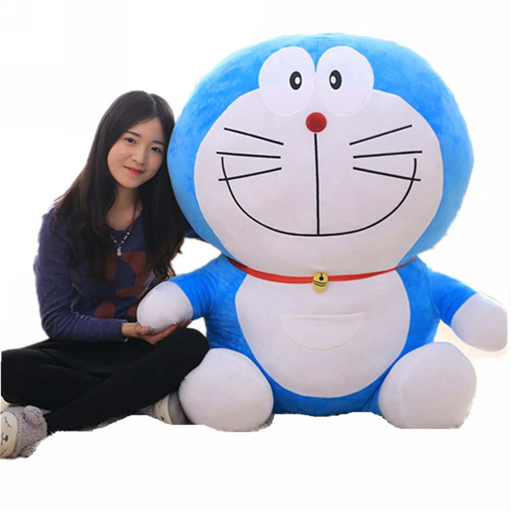 Fancytrader 43'' Giant Plush Doraemon Toy Big Soft Stuffed Anime Doraemon Doll Pillow 2 Sizes Great Valentine Gift FT71004 fancytrader stuffed anime cat plush toy lovely big soft cats pillow cushion best gifts for birthady xmas