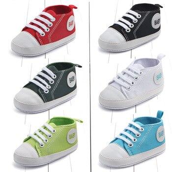 Koovan primeiro walker do bebê primavera 0-1 ano clássico lona bebê criança sapato de bebê sapatos de fundo macio meninos e meninas botas