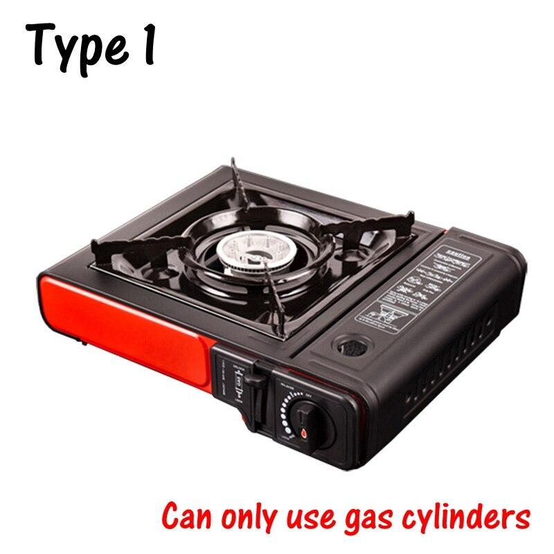 Portable plein air pique-nique Pot gaz Butane Portable cuisinière à gaz Camping randonnée pique-nique ensemble Camping poêle équipement pique-nique Applicable - 5