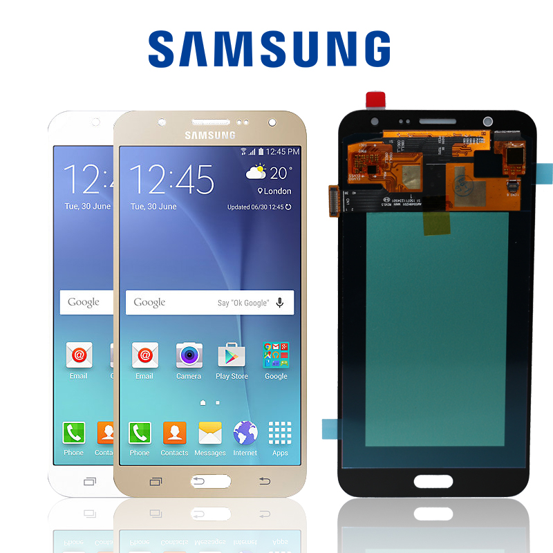 US $32 98 24% OFF|Original 5 5'' Display Super AMOLED For SAMSUNG Galaxy J7  LCD J7 2015 J700 J700F J700H J700M Touch Screen Digitizer Replacement-in