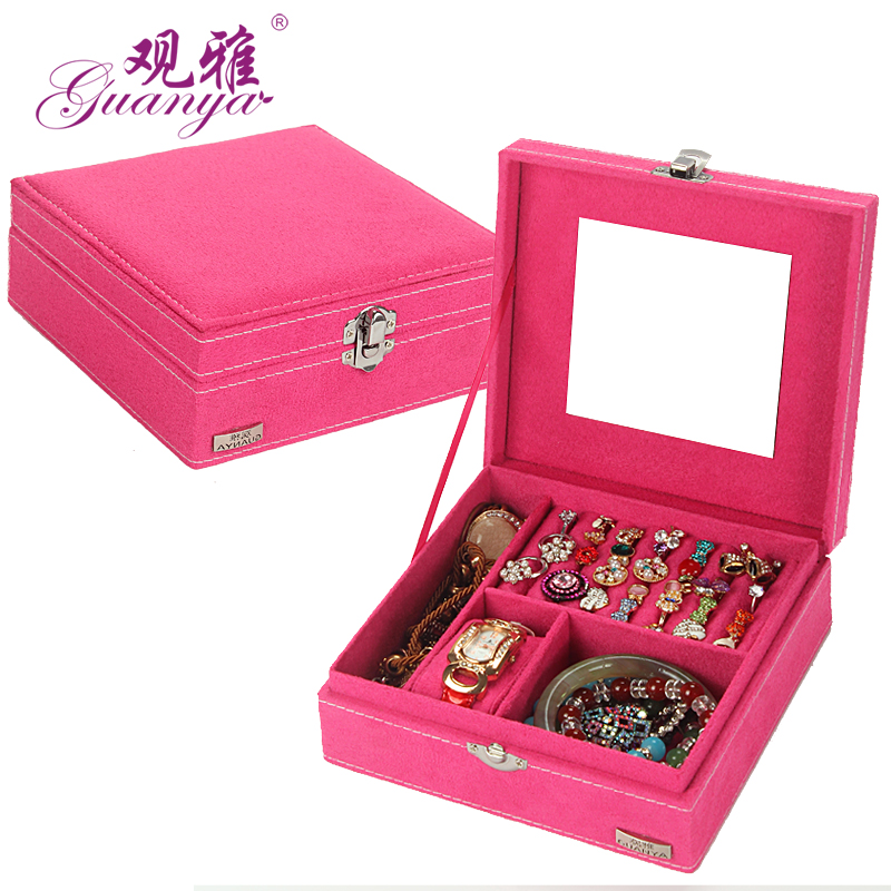 Fashion new one layer portable function gift box necklace for Big box jewelry stores