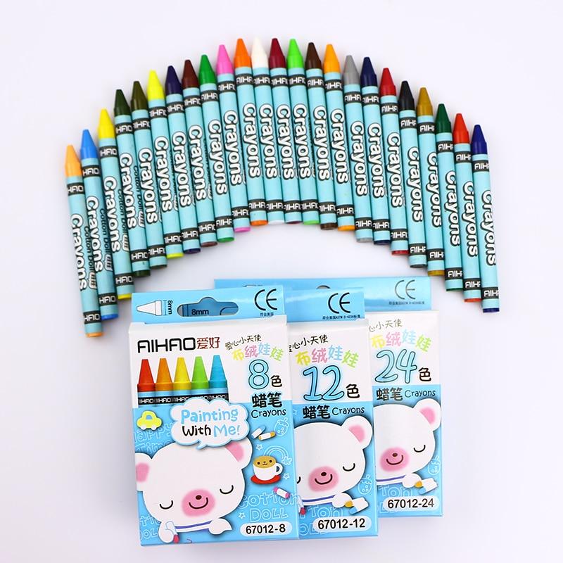 8/12/24 Colors Cute Kawaii Rainbow Crayons Oil Pastel Drawing Set Soft Graffiti Color Pens School Supplies