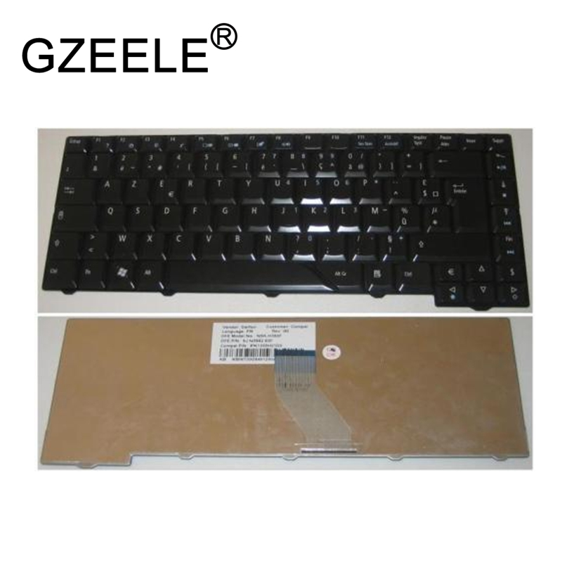 GZEELE NEW French Keyboard for <font><b>Acer</b></font> <font><b>Aspire</b></font> 4210 4220 <font><b>4920</b></font> 5220 5310 5520 5910 5920 5930 6920 AZERTY FR BLACK image