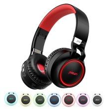 P60 Беспроводной наушники Bluetooth наушники Поддержка 7 цветов светящийся 24 часов рабочего времени MP3 плеер с микрофоном для телефона PC