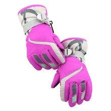Женские, детские, зимние, теплые, водонепроницаемые, ветрозащитные, зимние, для сноуборда, лыжные, модные, спортивные перчатки